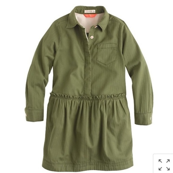 Crewcuts Other - CREWCUTS Military Style Shirt Dress - NEW